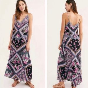 FREE PEOPLE Stevie Lace Maxi Slip Dress NWT L